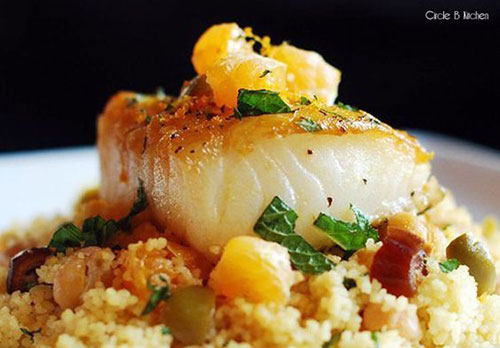 50+ Best Recipes for Fresh Clementines - Pan Roasted Sea Bass with Clementines