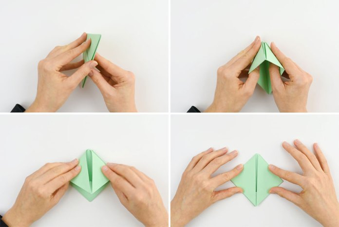 How to make a paper boat - step 10
