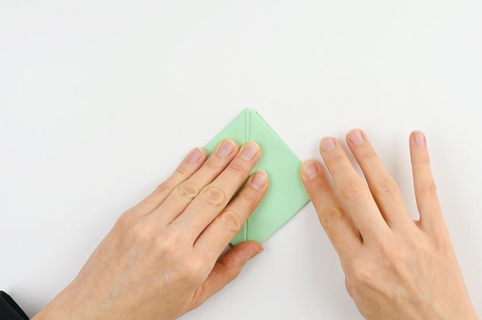 How to make a paper boat - step 11
