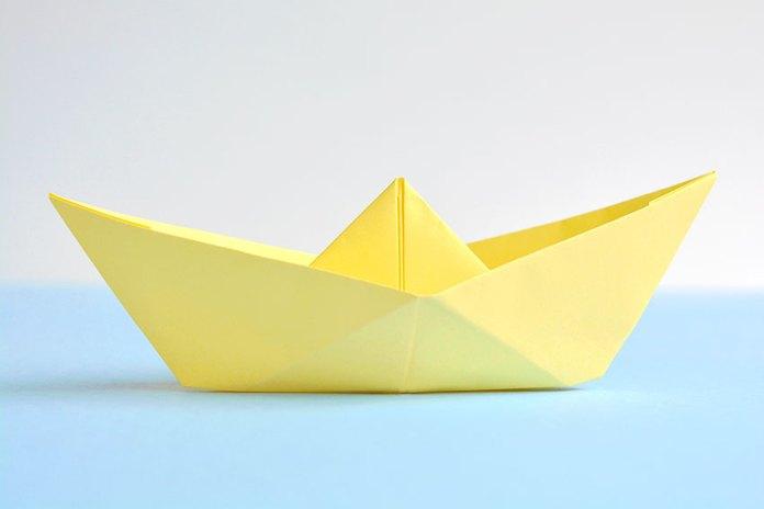 Yellow Paper Boat