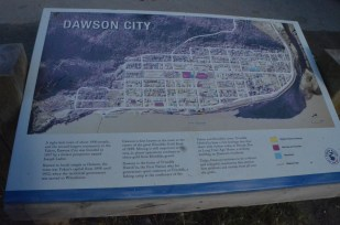 Map of Dawson City.