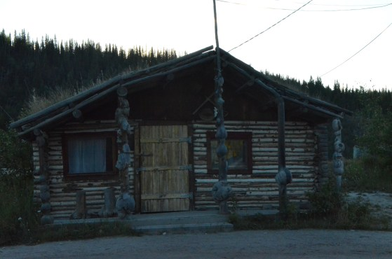 Historical cabin on the waterfront.