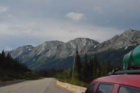 Looking at back side of mountains of Pine Le Moray Provincial Park
