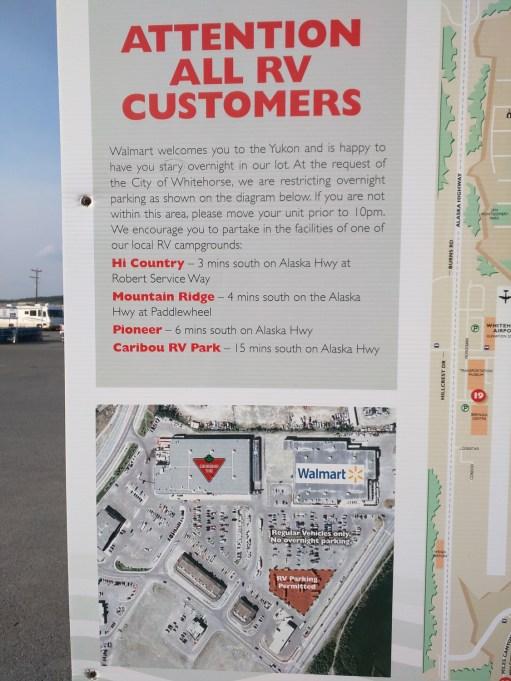 Whitehorse Walmart parking lot