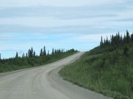 The road heads upward