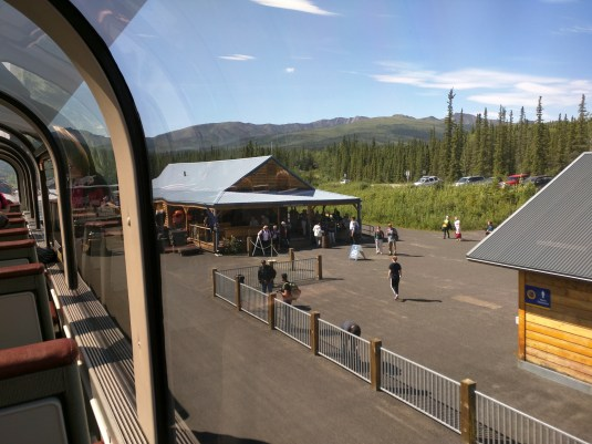 Arriving at the Denali National Park Visitor center platform. I had a couple of hours but not really long enough to do more than poke around. Today was about the train ride more than the park.
