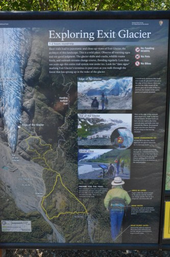 The viewpoint and trails are accurate, but the glacier has receded such that the toe is at the viewpoint now.