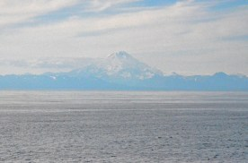 I believe this is mount Redoubt, also far across the inlet.