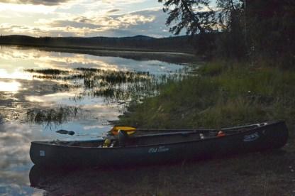 Canoe back on the shore
