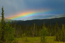 In the end the day turned out well, and was capped off by a vibrant rainbow.