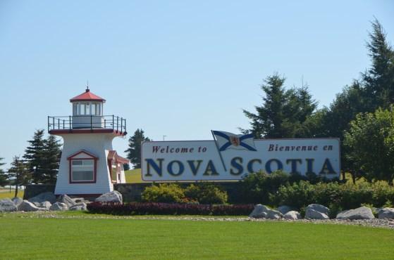 Nova Scotia Visitor's Center, as you leave New Brunswick