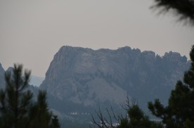 Mount Rushmore in the distance