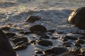 Foam between the rocks