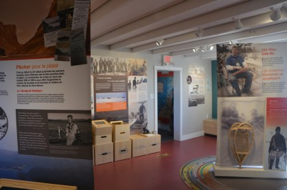 Inside the visitor center.