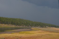 Storms are quite scenic as they pass through the Hayden Valley