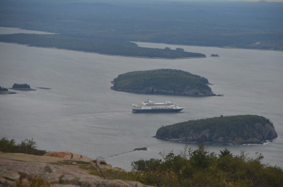 Cruise ship passing through