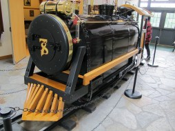 His steam engine, newly restored