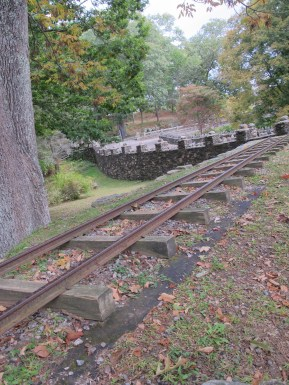 Tracks used to run all around the grounds, this short section has been restored.