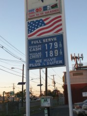 I needed fuel after I left the statue. So I wandered around New Jersey a bit dragging the trailer. Found this station, with a pretty good price. Interesting that NJ and Oregon are the only places where you can't still pump your own gas.