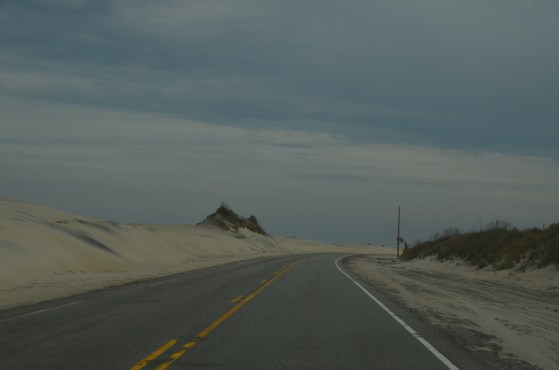 Down the road, outer banks.