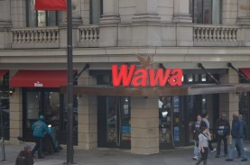 Wawa is apparently the delaware word for goose, and you can see the flying goose in their logo.