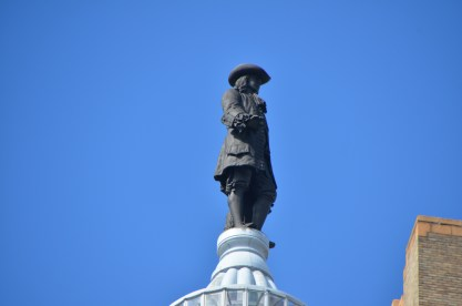 """William Penn atop the dome would likely have been aghast to have been """"on the top"""" as he held that all were equal."""
