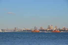 Staten Island Ferries passing.