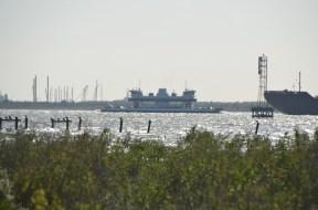 Closer shot of the ferry.