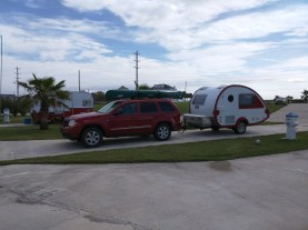 Jamaica Beach RV Park - After the adventure with ants in Florida I was really appreciating the all concrete pads here.