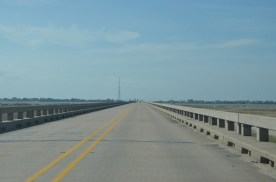 Raised bridge with low speed limit, provided a nice view to left and right.