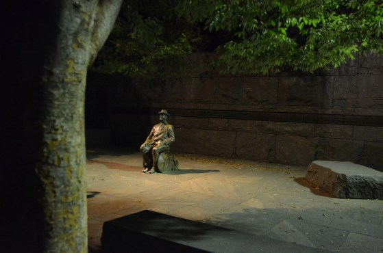 Franklin Delano Roosevelt Memorial is in four parts, for his four terms.