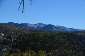 The photo today (Turkey Creek Caldera) - note the snow on the ground from recent days.