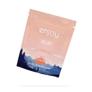 100 mg Delta-8 THC Gummies for Relief - Strawberry