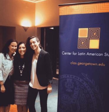 Miranda Carman, Mary Maloney and Andrea Arzaba. GLAFF 2016 student organizers.