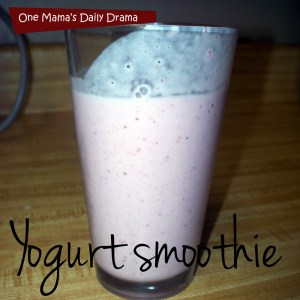 Yogurt smoothie recipe