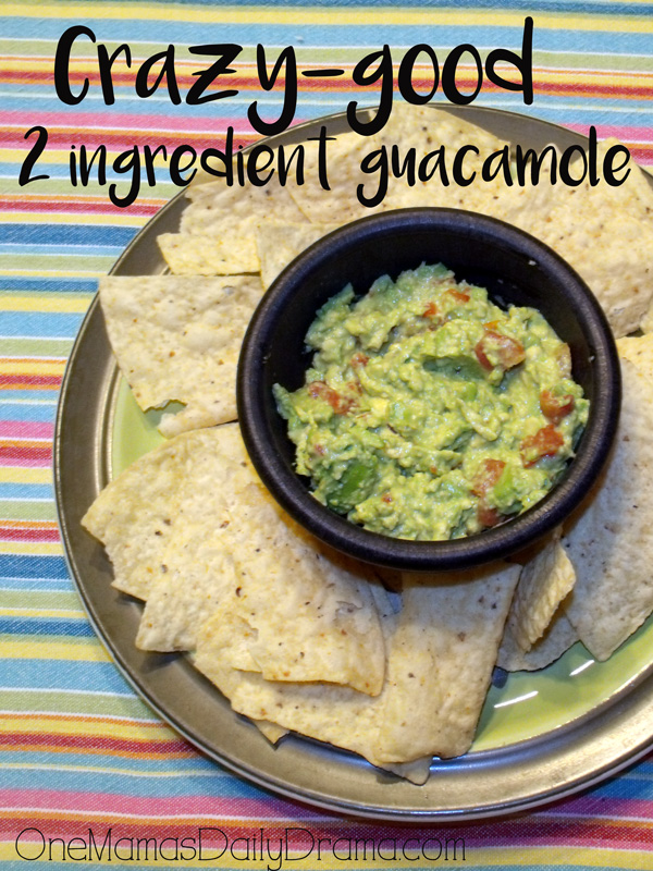 Crazy-good 2-ingredient guacamole recipe | The best guac for Taco Tuesday