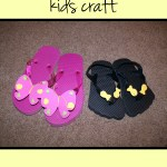 Easy summer flip flop kids craft