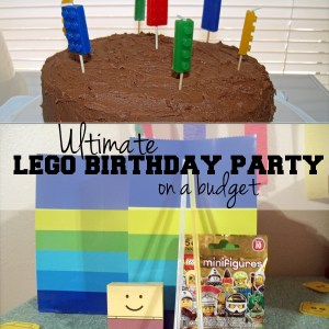 How to throw the ultimate LEGO birthday party | One Mama's Daily Drama --- LEGO decorations, games, cake, printables, and favors on a budget