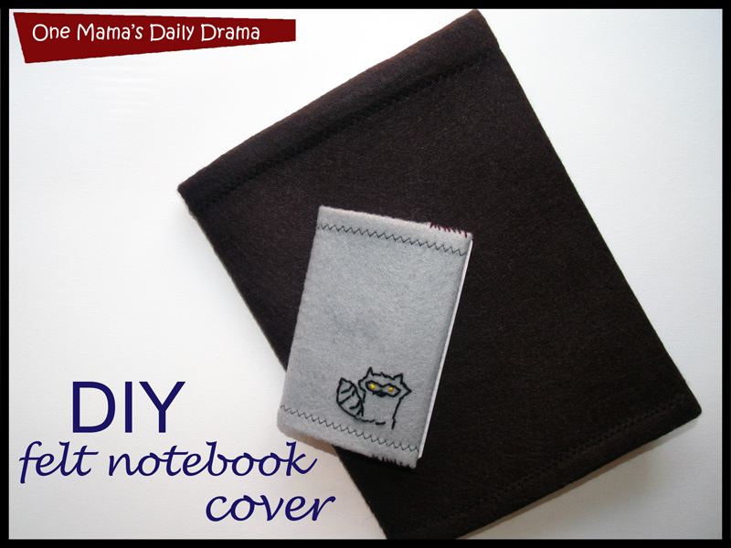 Felt Book Cover Diy ~ Diy felt notebook cover