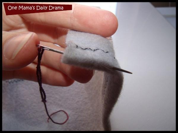 insert needle from inside