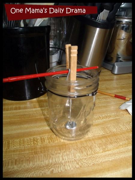homemade candles jar prep