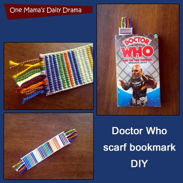 12 weeks of handmade Christmas gifts: Doctor Who Scarf Bookmark | One Mama's Daily Drama