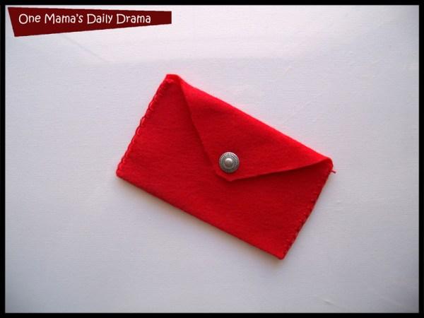 diy gift card holder felt envelope