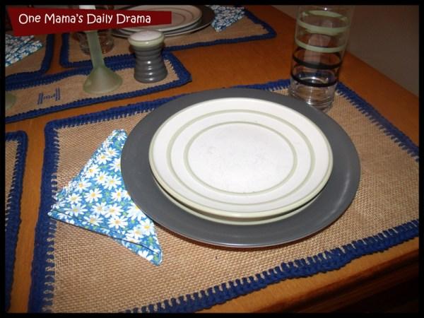 burlap placemats fabric napkins