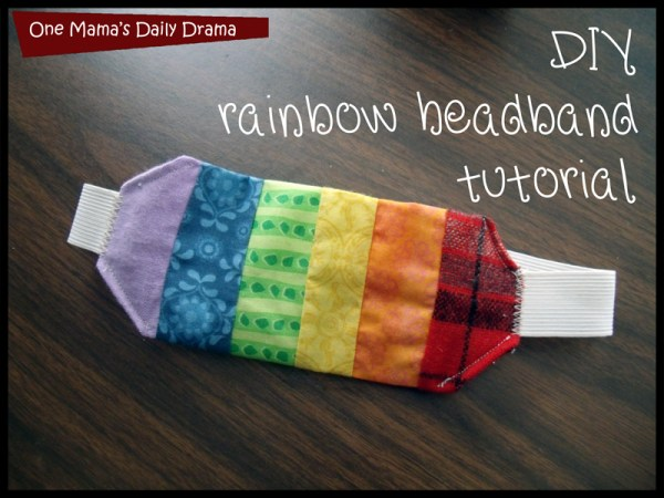 DIY rainbow headband sewing tutorial | One Mama's Daily Drama