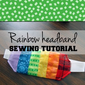 Rainbow headband sewing tutorial