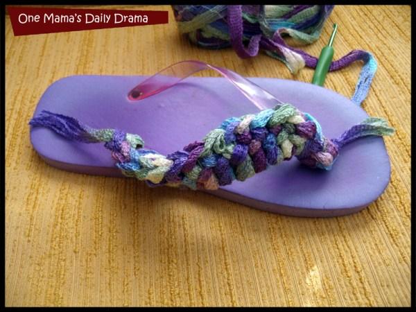 Crochet flip flop diy: Just pick a side