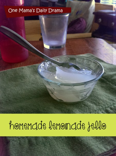 Homemade lemonade jello recipe | One Mama's Daily Drama -- This is the perfect summer dessert! Easy to make too!