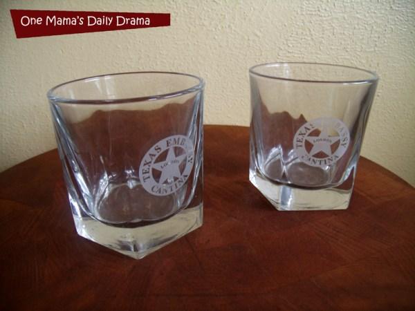 Texas Embassy glassware