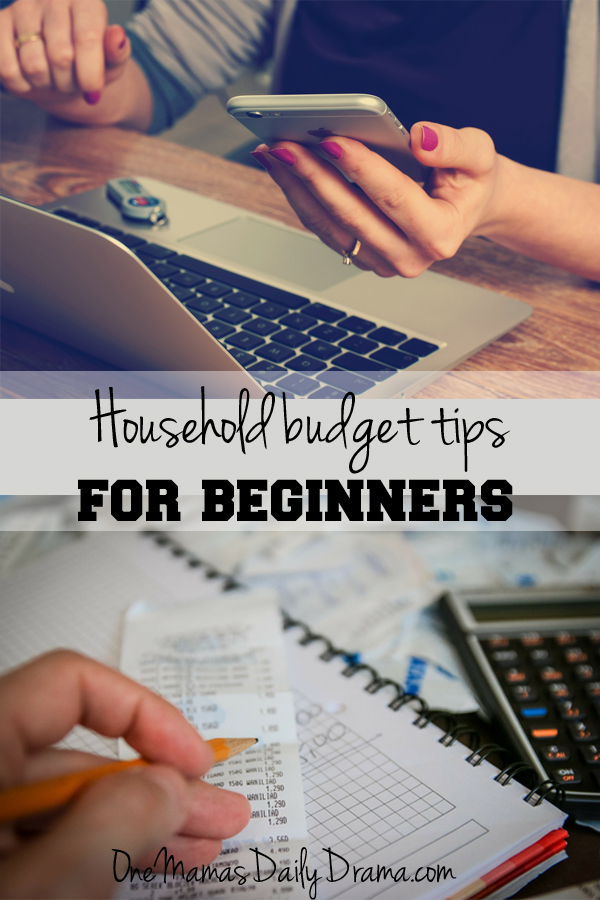 Beginner household budget tips | One Mama's Daily Drama
